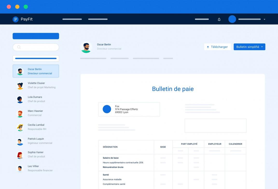 Bulletin de paie dans PayFit